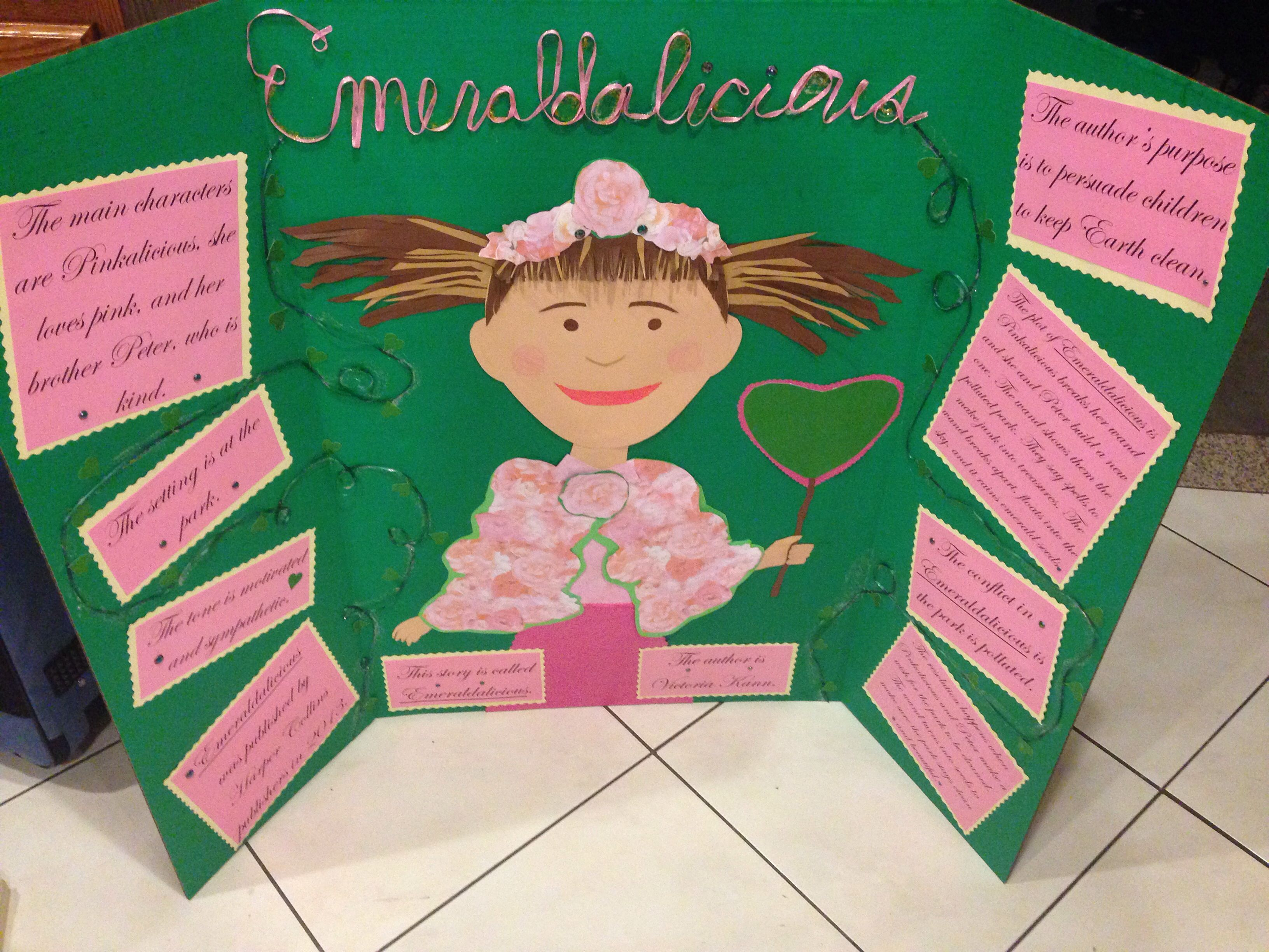 my little sisters 3rd grade book report project for emeraldalicious turned out fantastic