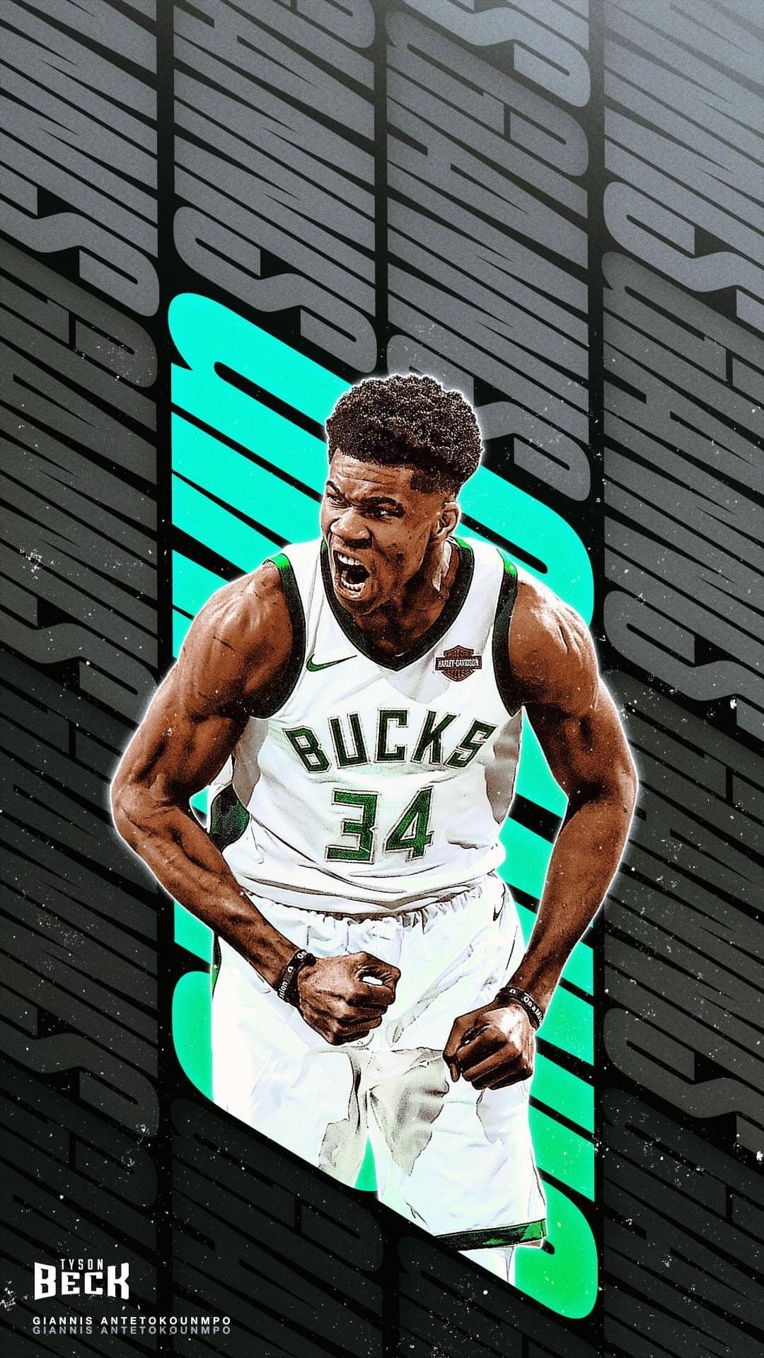 Giannis Antetokounmpo wallpaper Basketball design, Sport
