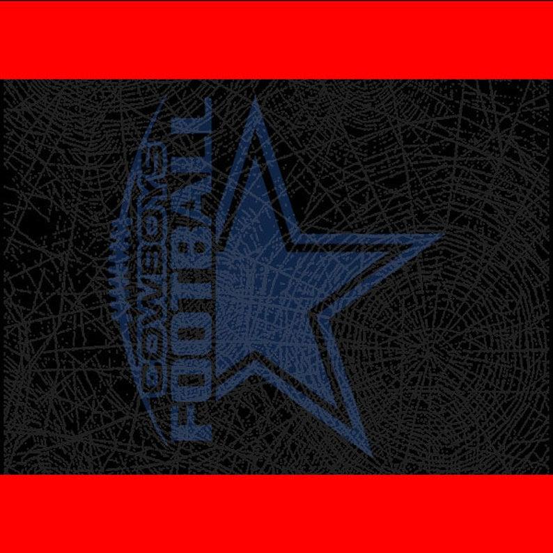 Dallas Cowboys Football Gift Cut File // DxF // EP
