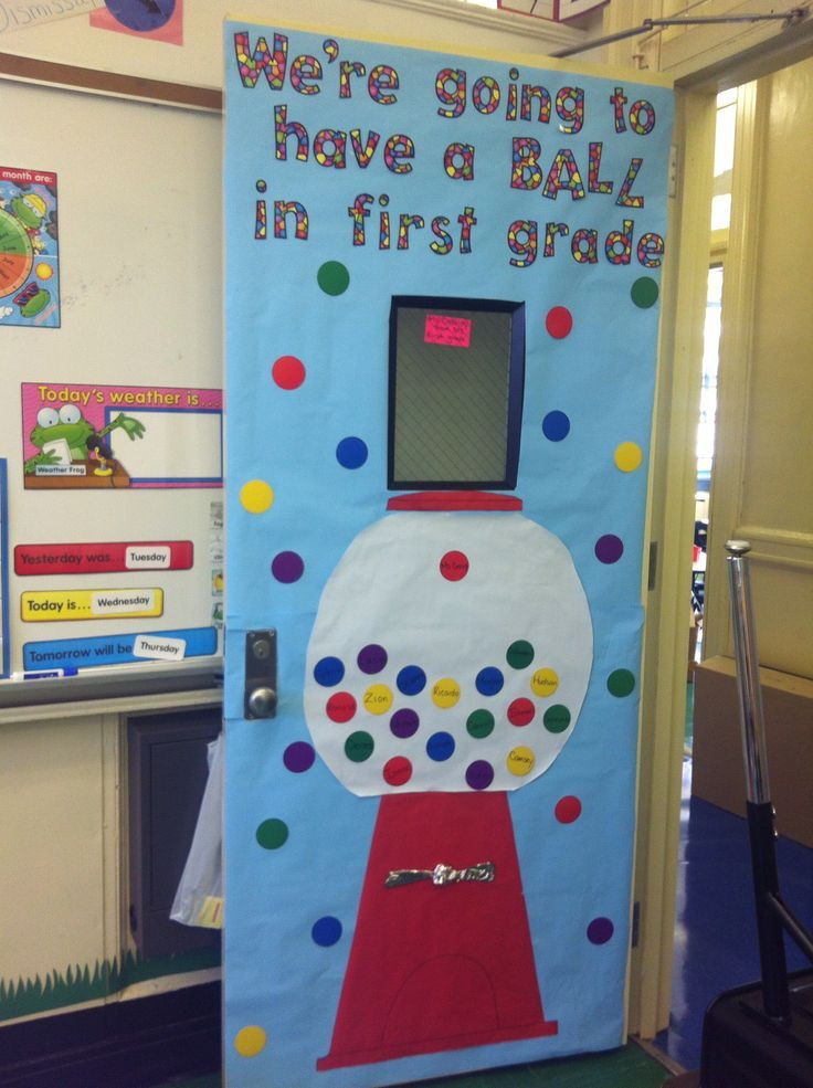 Classroom Theme Ideas Grade ~ Write students names on the gumballs and as they arrive
