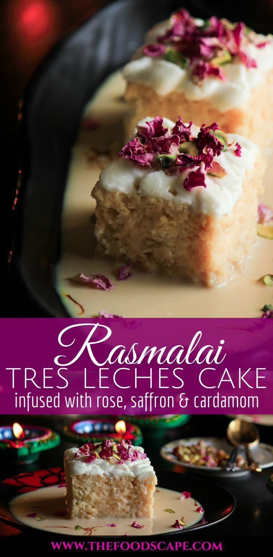 Rasmalai Tres Leches Cake #indianfood