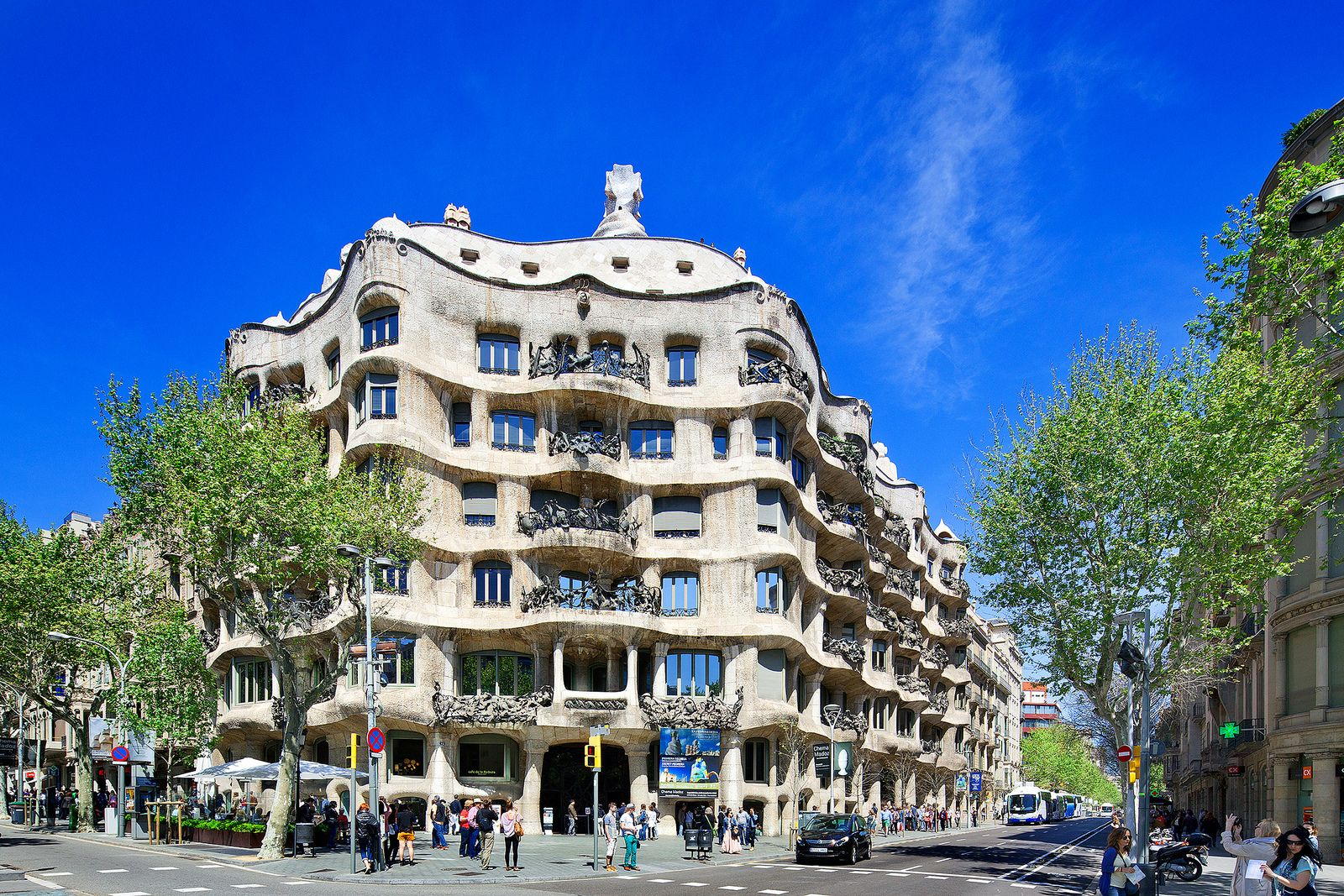 la pedrera casa mila barcelona spain antoni gaudi