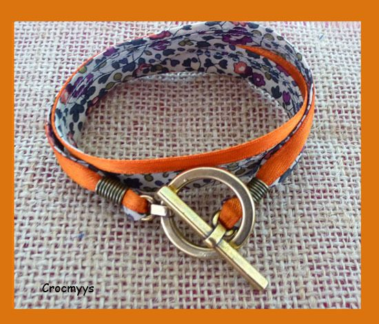 Bracelet liberty éloïse double tour : Bracelet par crocmyys