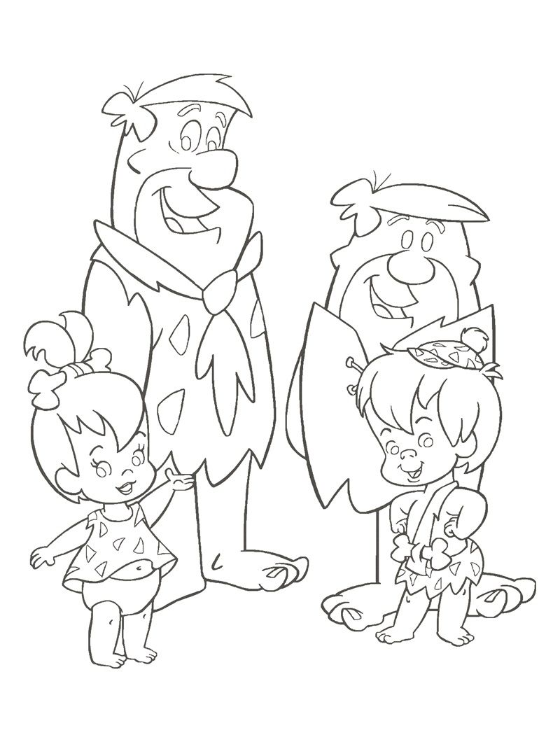 Flintstones Coloring Page | Tattoo | Pinterest | Coloring books ...