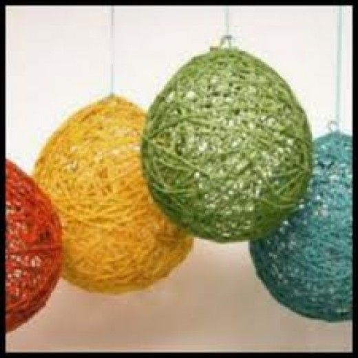 Not Just A Yarn Ball Super Neat DIY Lampshade Diy Lampshade - Diy cloud like yarn lampshade