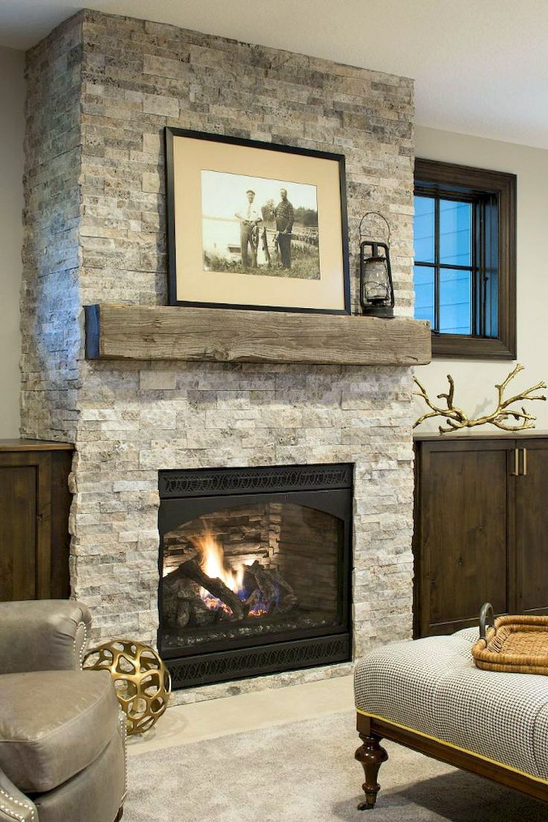 Adorable 15 Farmhouse Fireplace Mantle Decorations Ideas For Cozy Family Contemporary Fireplace Designs Fireplace Design Fireplace Hearth Decor