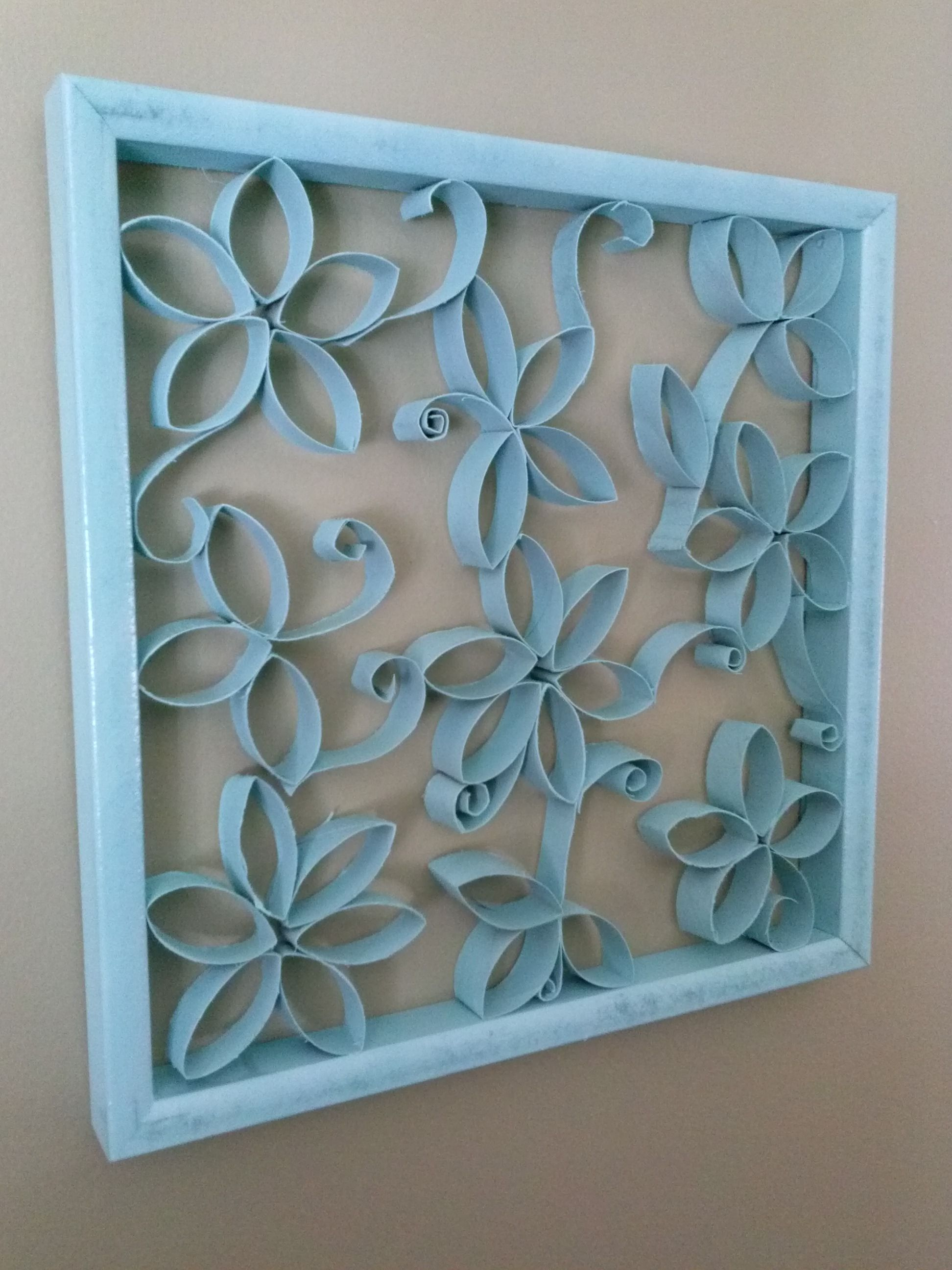 I Had The Frame Toilet Paper Rolls Cut Into Flowers And Stems