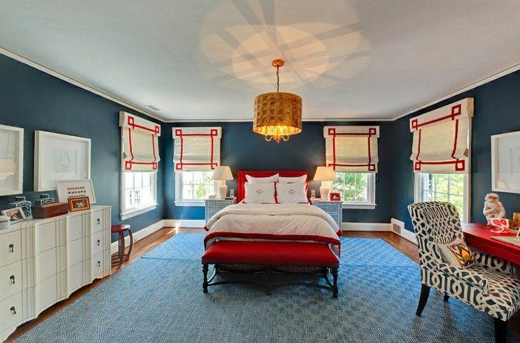 Adoptieren Sie ein Schlafzimmer Dekor, das keine Angst vor Farben