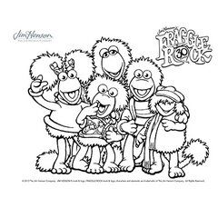 fraggle rock coloring pages