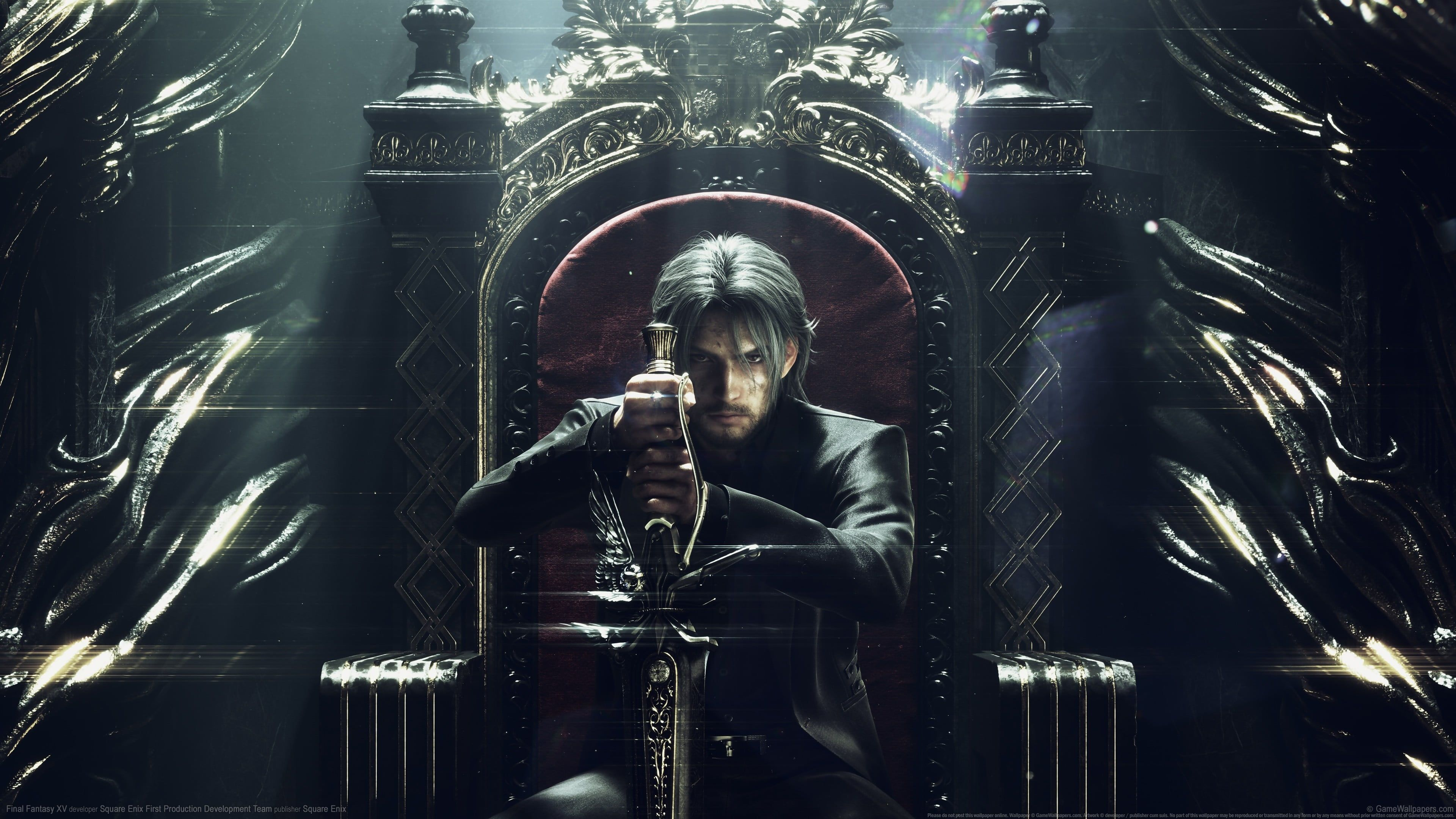 Game Cover Video Games Digital Art Final Fantasy Xv Throne Men Sword Square Enix Final Fantasy N Final Fantasy Xv Wallpapers Final Fantasy Xv Final Fantasy