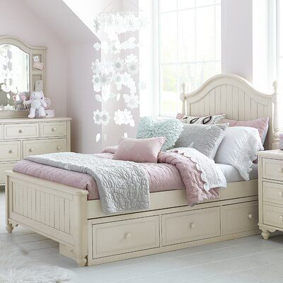 Lc Kids Summerset Low Poster Panel Bed Color Ivory Size