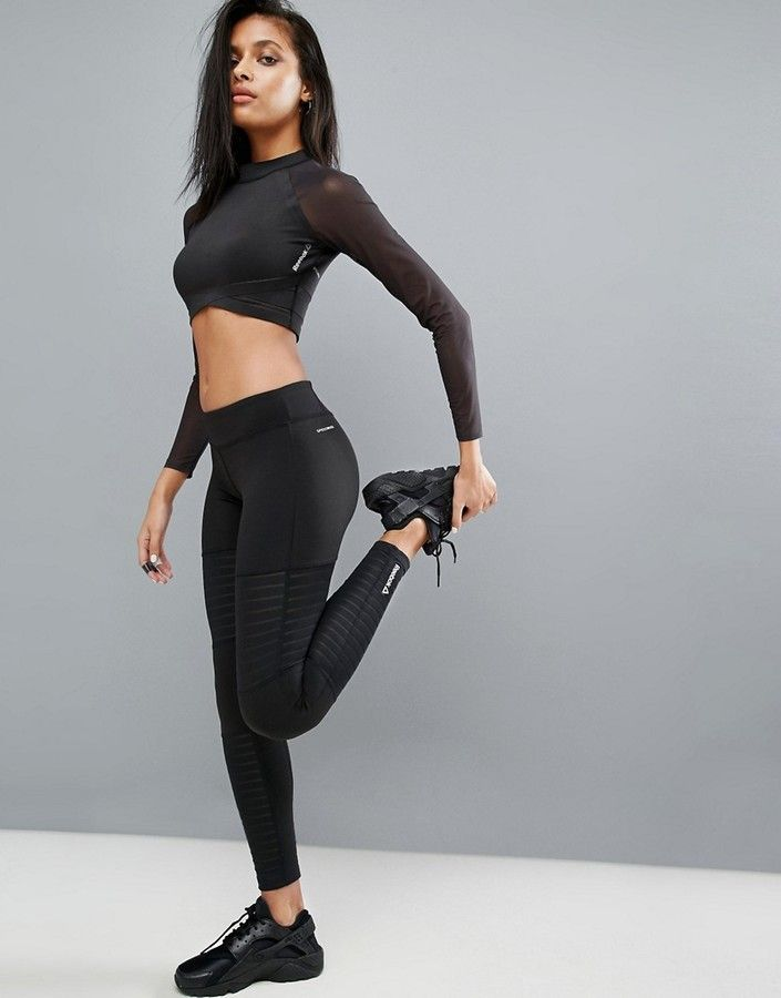 bf5f0c2b95f88 Reebok Leggings With Mesh Inserts | Workout / Athleisure Inspo ...