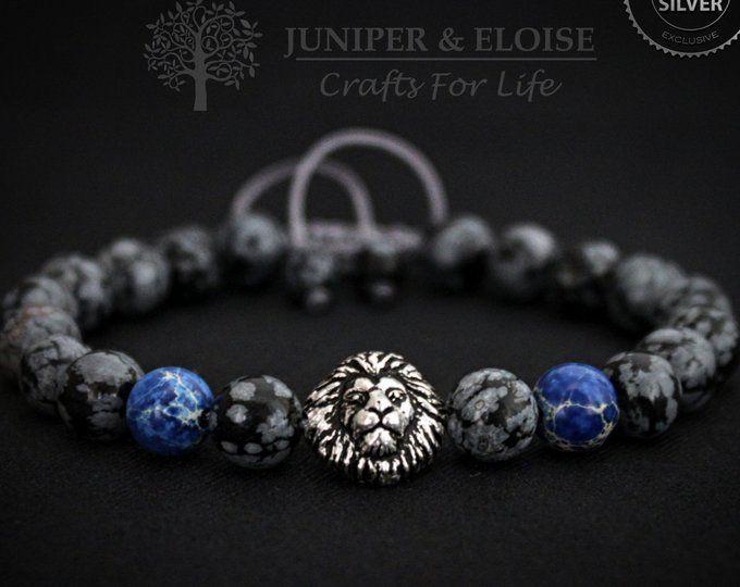 Charme Hommes 8 mm Gray Jasper Perles Rose Gold Eagle Claw Bracelet de perles bracelet