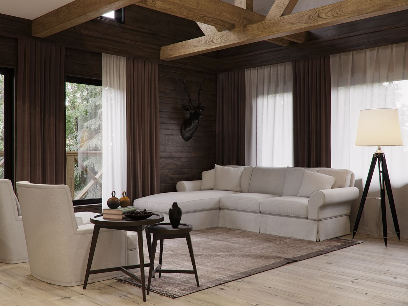 Country house in chalet style on Behance | 16...chalet | Pinterest ...