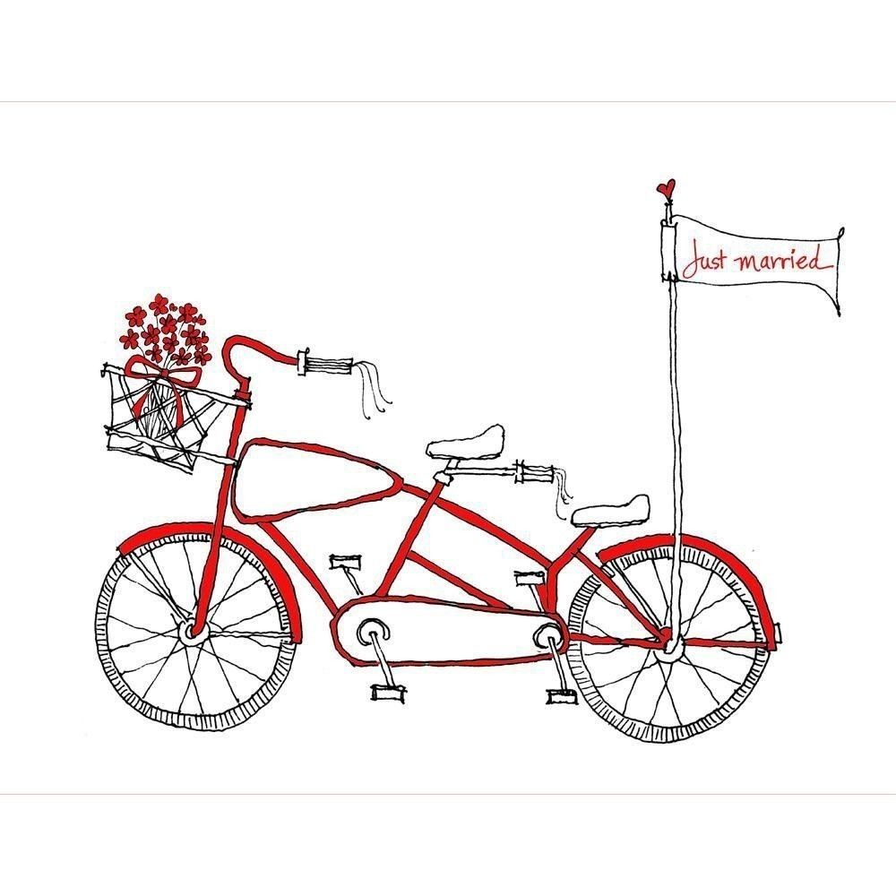 Wedding Tandem Bike Clip Art
