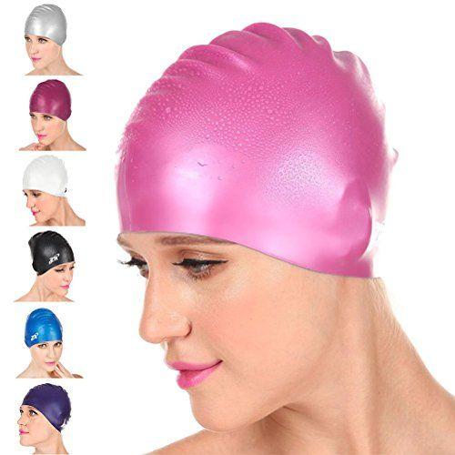 f118acc88f8b  New Arrival  ZIONOR Manatee C3 Premium Silicone Swim Caps for Men Women