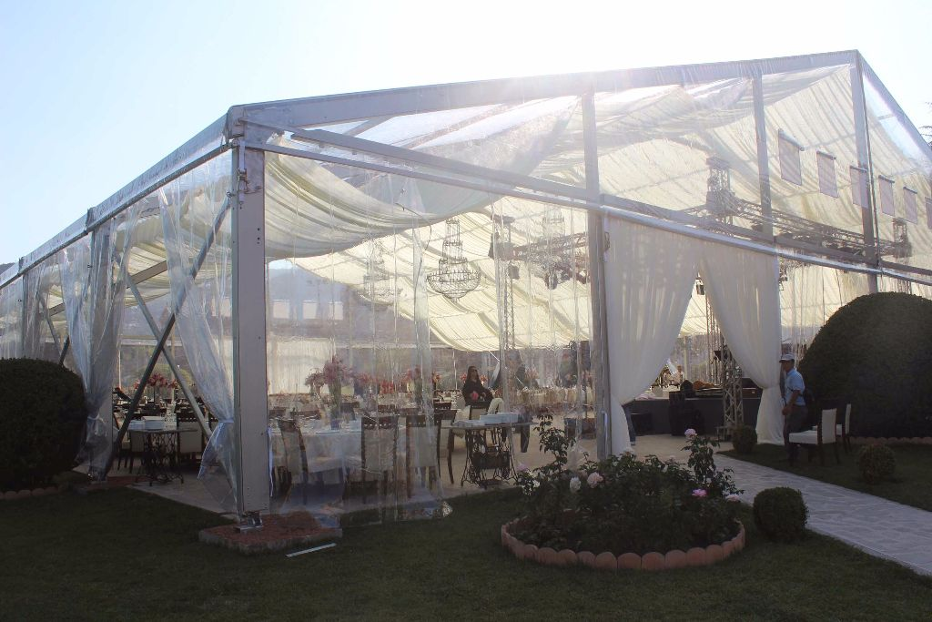 This clear span marquee is equipped with clear PVC fabric for roof and wall. It is our best sell and sold to Georgia for wedding. The optional weddinf tent ... & We custom design any size or shape tent Frame Tents is Africab s ...