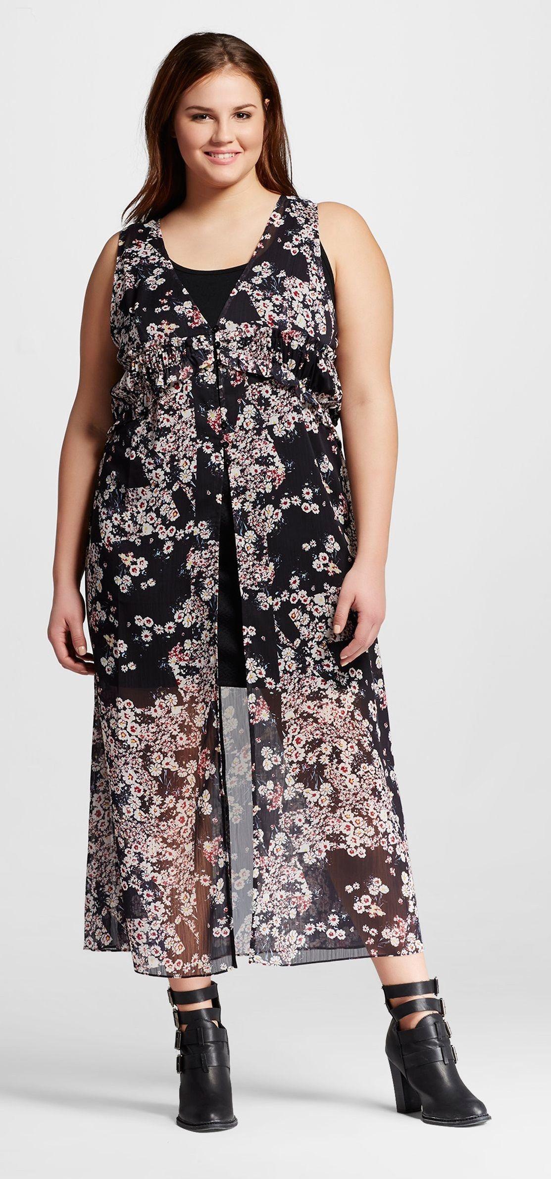 Target Cliche Women S Plus Size Sleeveless Floral Print Maxi Dress Multicolor Cliche Floral Print Maxi Dress Dresses Plus Size Outfits [ 2383 x 1113 Pixel ]