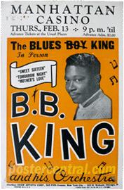 cartel del concierto de BB King