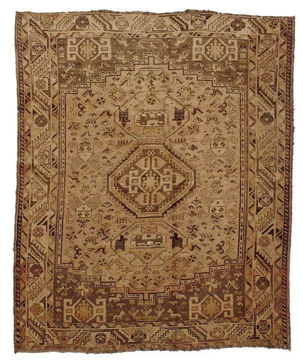 """Vintage Persian Shiraz Rug 5'3""""x6'8"""" - Hunttrugs —"""
