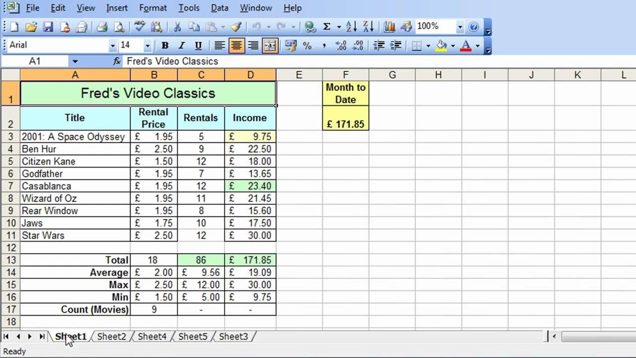 Microsoft Excel Tutorial for Beginners #31 - Worksheets Pt.1 ...