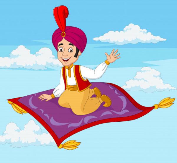 قصة علاء الدين والمصباح السحري قصص اطفال حكايات عربية Zina Blog Cartoon Flying Carpet Aladdin