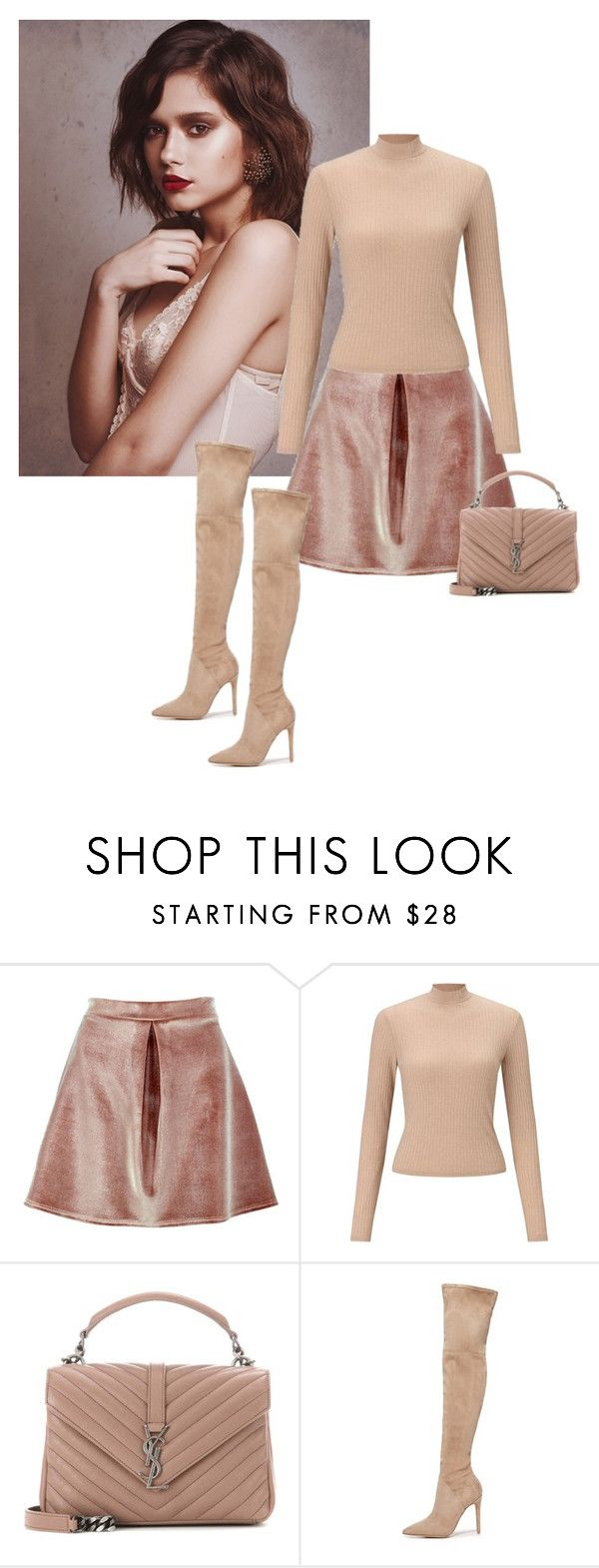 """""""Untitled #1445"""" by randeee ❤ liked on Polyvore featuring Boohoo, Miss Selfridge, Yves Saint Laurent and Kendall + Kylie"""
