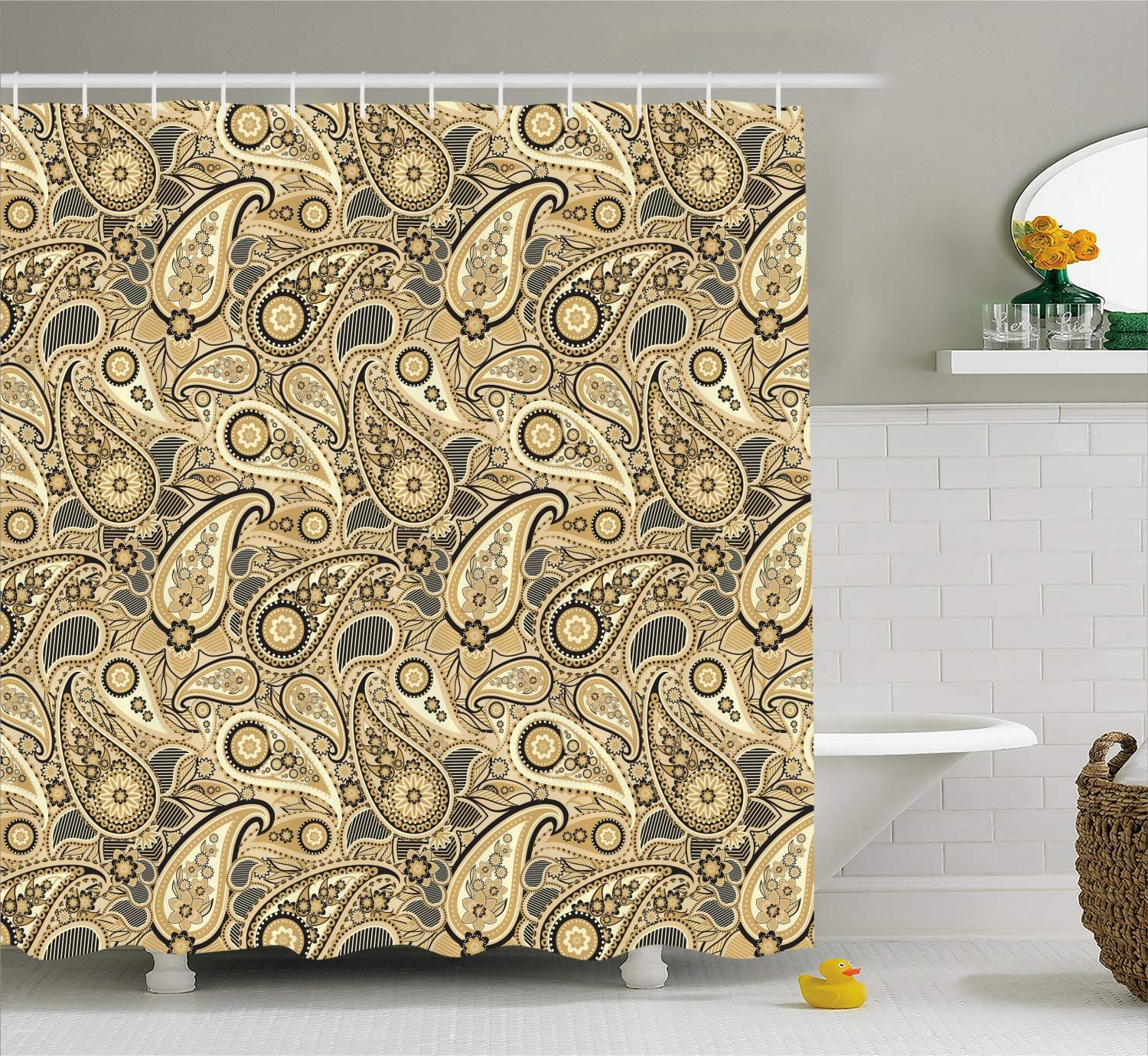 Ambesonne Earth Tones Shower Curtain, Iranian