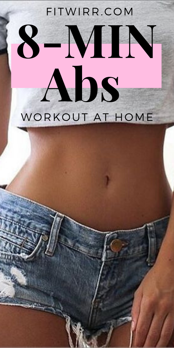 8 Minute Abs Workout Routine to Flatten and Tone Your Stomach #sideabworkouts