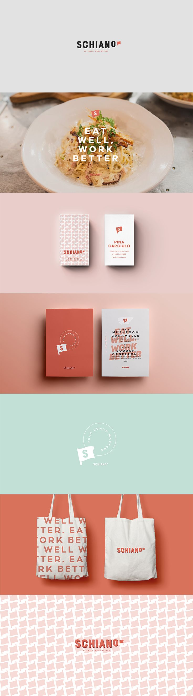 New Brand Identity By We Are Flourish For Italian Catering Business Schiano We Had Fun With This One Branding Foodb Branding Creative Agency Web Design