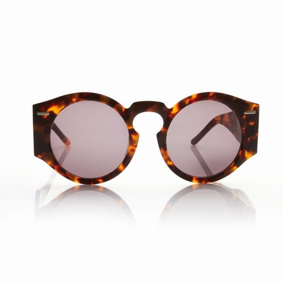 968faaec5 Opening Ceremony Tortoise Round Sunglasses Opening ceremony aviator  sunglasses in tortoise. Modern rounded sunglasses with oversized arms and  exaggerated ...