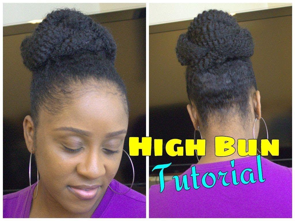 Easy Marley Braid High Bun Natural Hair Tutorial My New Doo