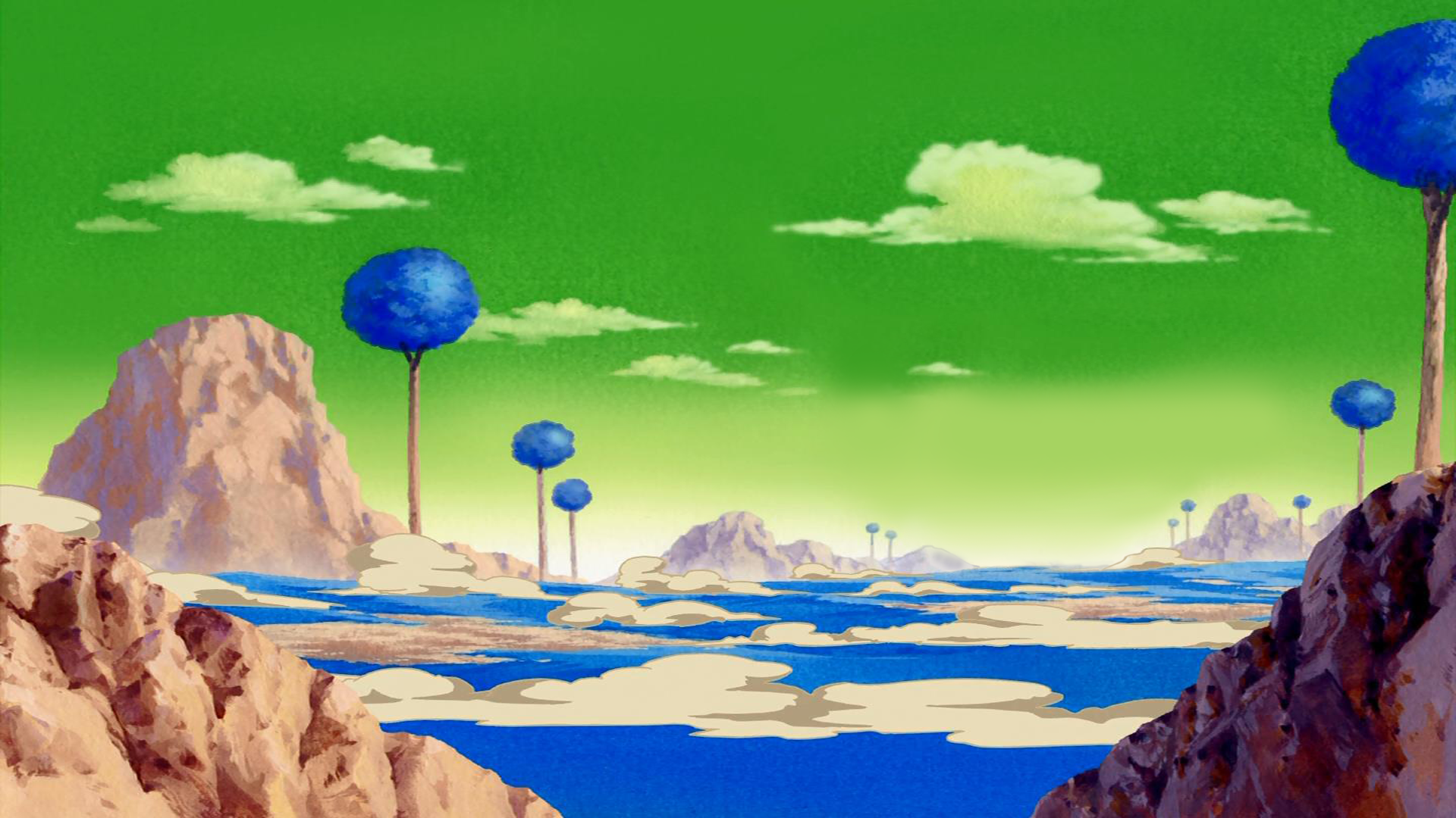 1920x1080 Planet Namek Wallpaper Background Image View Download Comment And Rate Wallpaper Abyss In 2020 Dragon Ball Anime Background Dragon Ball Z