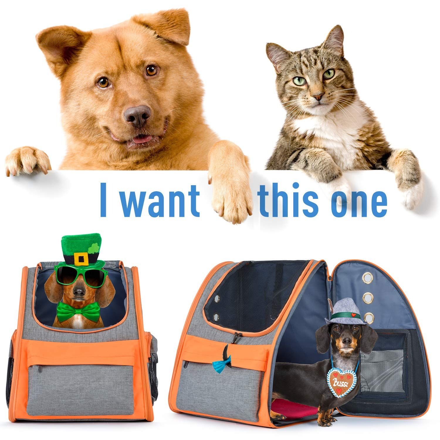 hooroor Pet Carrier Bag with Adjustable Strap for Cats Dogs M