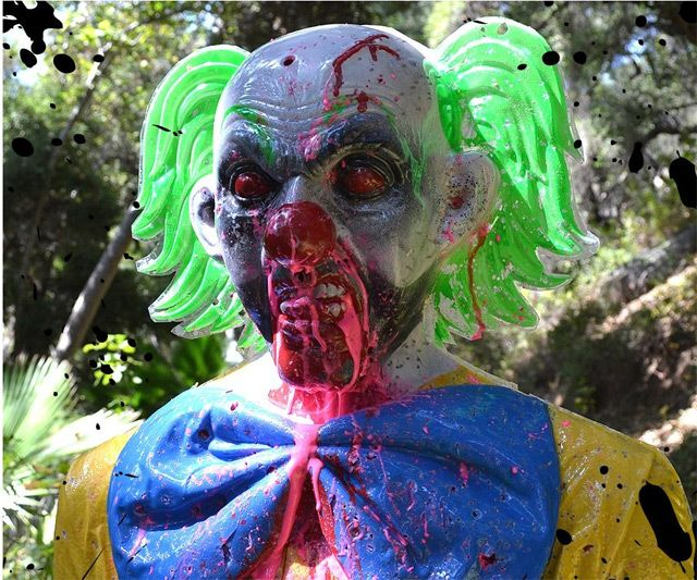 Bleeding Zombie Clown Target Halloween costumes