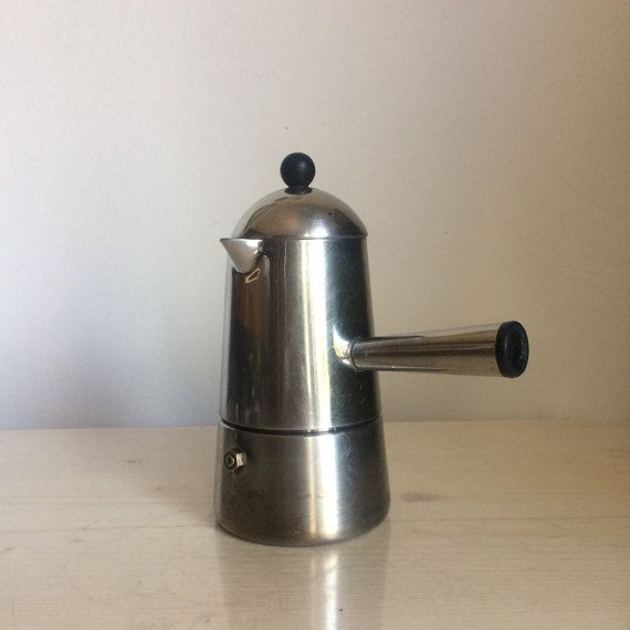Lavazza Carmencita Stovetop Espresso Coffee Maker Stove Top Pot Moka Express Percolator Italian Stainless Steel Machine Mocha Kettle Italy