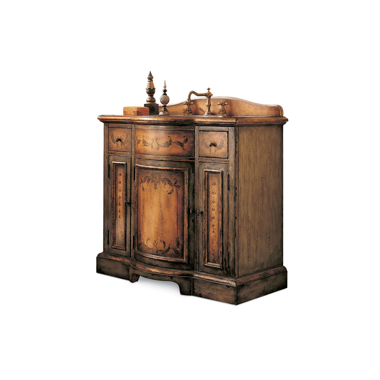 Cole and Co Larchmont Chest Hand Painted Bathroom Vanity 13 22