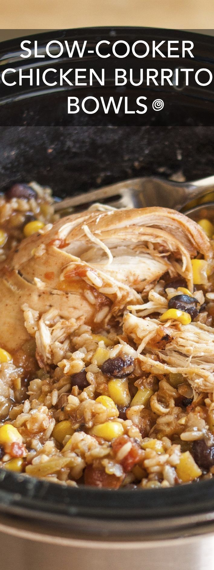 Chicken Burrito Bowls Recipe. This EASY crockpot chicken dinner is soon to be one of your favorite meals! I don't know anyone who doesn't like Mexican food, and this simple rice bowl is a party in your crock pot!Slow-Cooker Chicken Burrito Bowls Recipe. This EASY crockpot chicken dinner is soon to be one of your favorite meals! I don't know anyone who d...