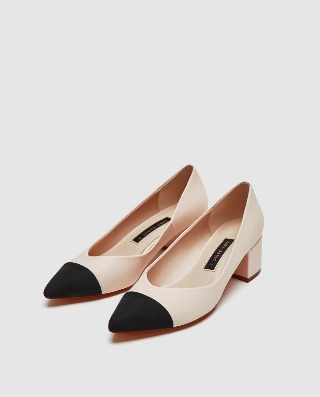 POINTED MID-HEEL COURT SHOES-View all