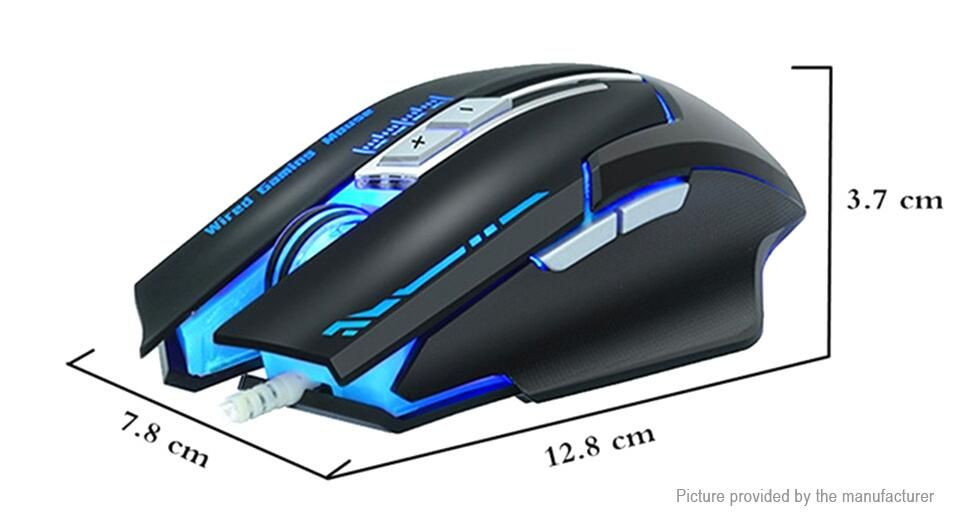 711 zuoya mmr7 usb wired optical gaming mouse 7button