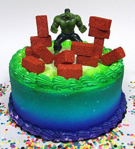 Super Hero Avengers INCREDIBLE HULK Birthday Cake Topper https