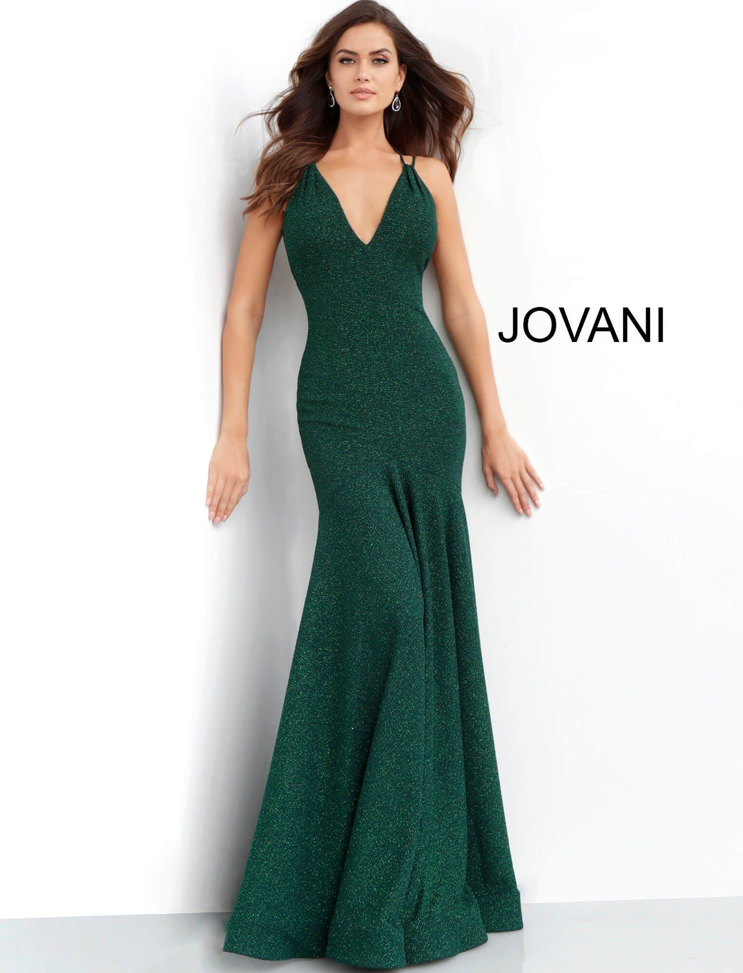 4c419530982 Emerald Backless V Neck Glitter Prom Dress 60214. Available Now . . .  prom   promdress  promdresses  eveningwear  eveningweardress  dress  dresses   prom2019 ...