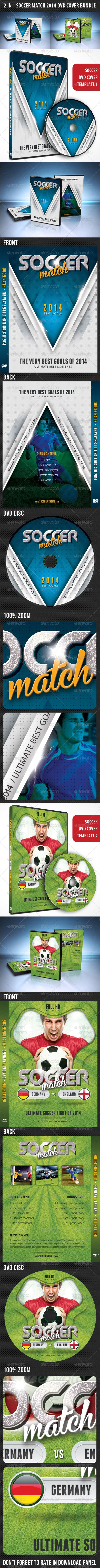 2 in 1 Soccer Match 2014 DVD Cover Bundle