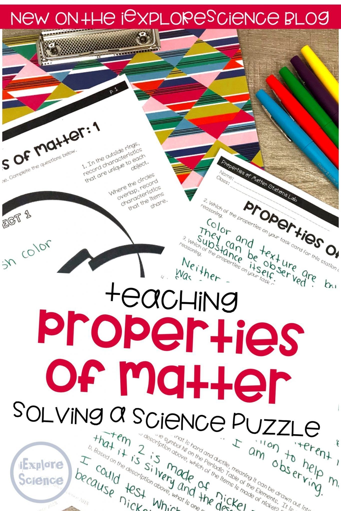 Teaching Properties Of Matter Solving A Science Puzzle