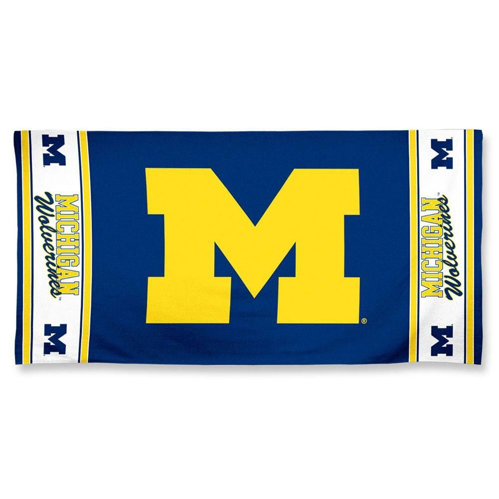 University of Michigan Wolverines Beach Bath Towel