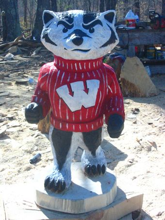 Wisconsin Badgers Wooden Ornament