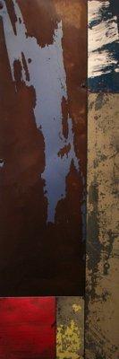 "Mark Cesark - ""Eraser"", Mixed Media on Metal"