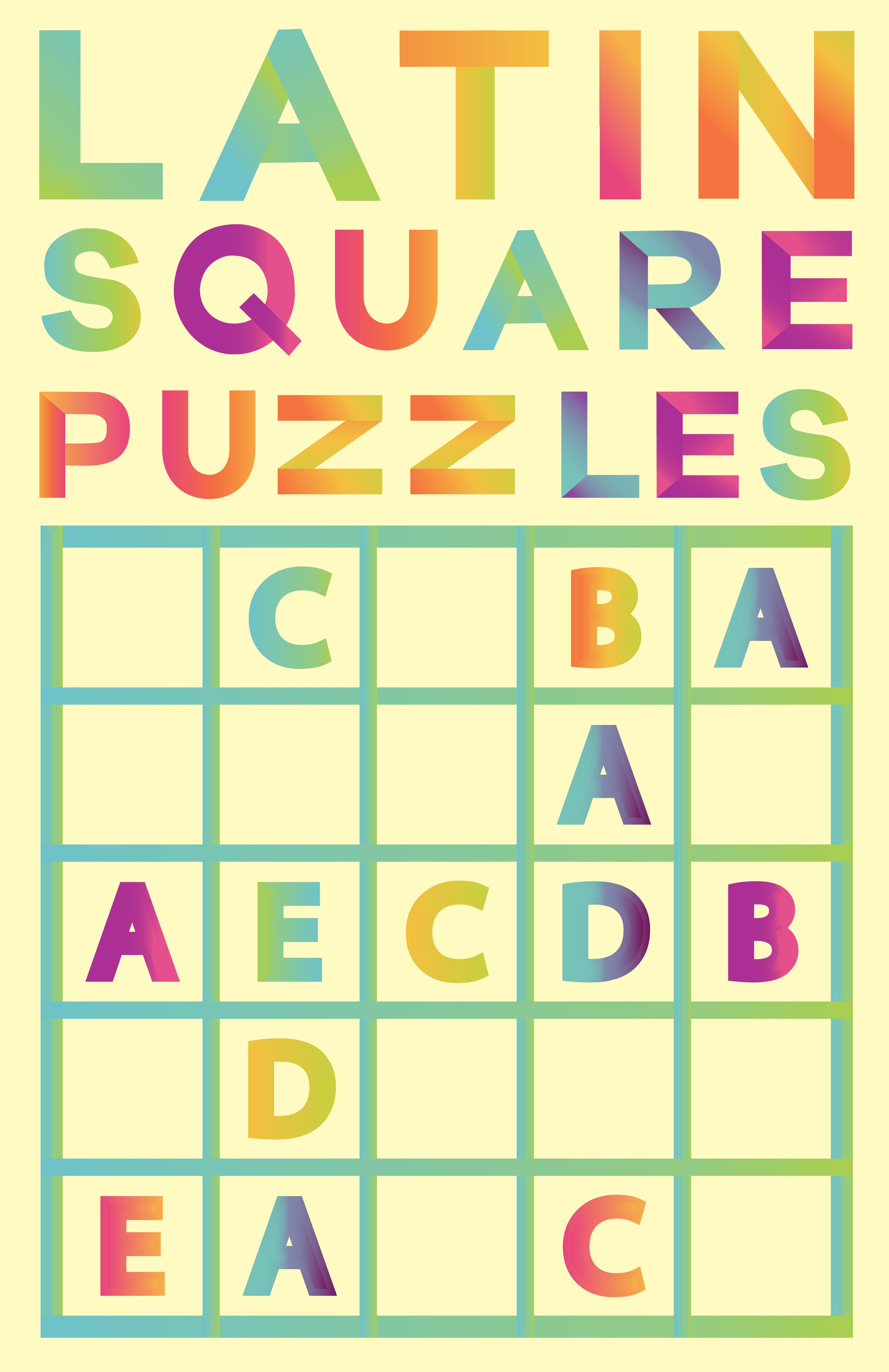 Latin Square Puzzles Puzzle books, Latin, Puzzles