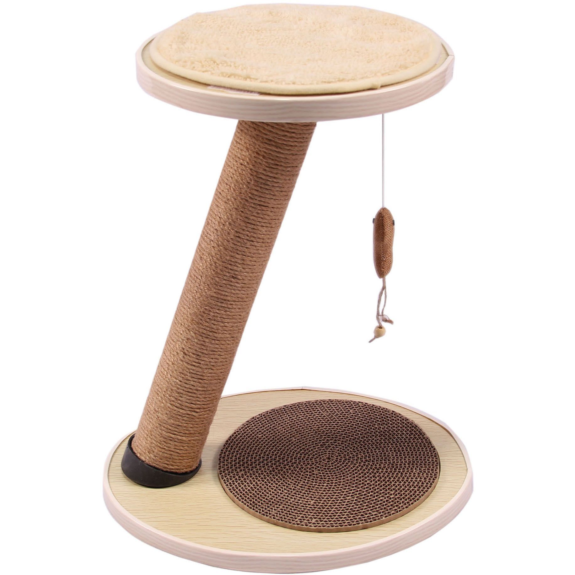 Prevent feline boredom with this cat scratching post from purrrfect