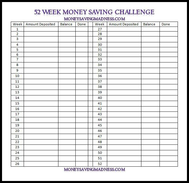 Printables Money Challenge Worksheets 1000 images about money saving chalenges on pinterest 52 week challenge body language and fundraising